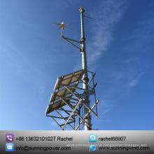 O sistema híbrido solar do vento 400W usa o gerador pequeno da turbina eólica