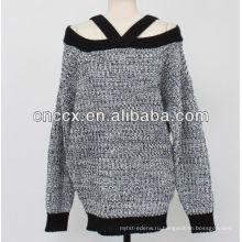 13STC5380 дамы сексуальная с плеча свитер