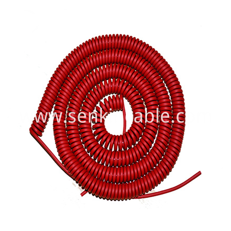 High Temperature Resistance Tpu Spiral Cable