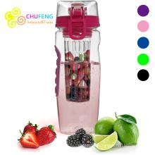 1000ml fruit infusant la bouteille d'eau de l'infuseur BPA en plastique libre de bouteille de sports de désintoxication de santé