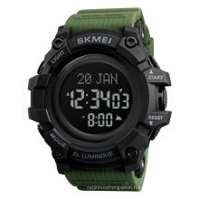 Skmei 1680 Man Japan Movement 5atm Waterproof Round Alloy luxury Wholesale Digital Sport Multi-function Muslim Watch