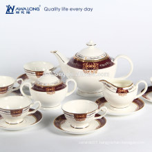 In stored Bulk New bone china Royal colors 15 pieces ceramic coffee set