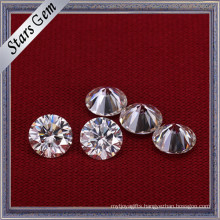Super White 8mm Round Star Cut Moissanite Diamond for Ring Setting