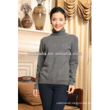 Antipilling cashmere women's winter sweater turtleneck