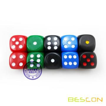 "Playing Gambling Dice 3/4"" 19MM with Custom Printing"