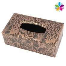 Boîte en tissu en cuir design design (ZJH066)