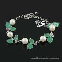 Новый дизайн Белый искусственный жемчуг браслет завод Цена Мода браслеты и браслеты 2013 Новый дизайн