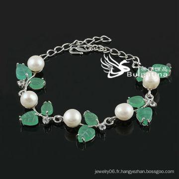 Nouveau design Blanc Simulé Bracelet perle Prix usine Prix Bracelets et bracelets de mode 2013 Nouveau design