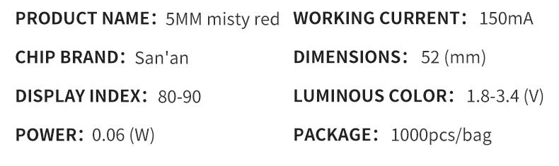 5mm Straw Hat Misty Red 03