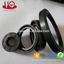NBR / Viton / PTFE / EPDM / FKM Material de goma Sello de aceite del vástago de la válvula del motor / Tipo de TC Sellos de aceite de la maquinaria de construcción