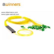 Divisor de fibra óptica Plc tipo tubo 2X32