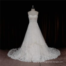 H001 Sexy Strapless Lace Beaded Bridal Wedding Dress 2016