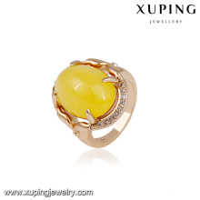 14719 xuping jewelry luxury graceful 18k gold color finger ring for women