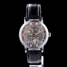 fashion leather chain mechanical men wrist watch