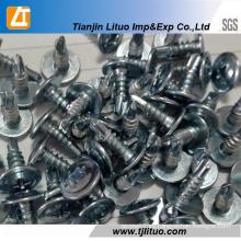 Tornillos autoperforantes / roscadores modificados tipo oblea con cabeza de truss