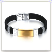 Stainless Steel Jewelry Rubber Bracelet Silicone Bracelet (LB496)