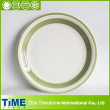 Stoneware Solid Color Rimmed Plates (TM0511)