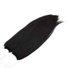 Straight Style 20 Inch Dark Color No Tip Hair Extensions 100% Human Hair Remy Hair