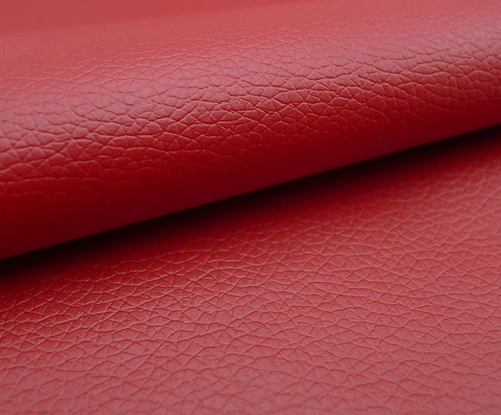 red-0.8mm small litchi pattern semi PU leather