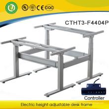 Guelph Back to Back Metal Frame Mesas de altura ajustable simples Mesas de oficina comerciales inteligentes eléctricos