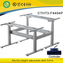 Oshawa Back To Back Metal Frame Simple Adjustable Height Tables Electric Smart Commercial Office Desks