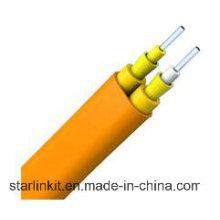 Single-Mode-Duplex-Flachdicht gepuffertes LSZH-Innenfaserkabel