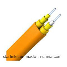 Câble de fibre intérieure LSZH tamponné plat à mode simple et simple