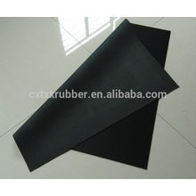 large rubber sheet for table mat, non slip black fabric table mat rubber sheet