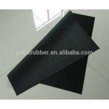large rubber sheet for table mat, non slip black fabric table mat rubber sheet