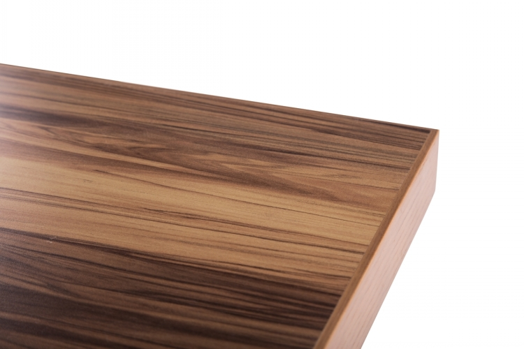 Europe Industrial Style Hpl Laminate Wood Table