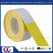 "6"" Yellow / 6"" White Reflective Safety Caution Warning Sticker Rolls (C3500-B(D))"
