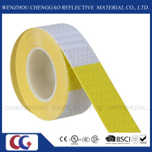 "6"" Yellow / 6"" White Reflective Safety Caution Warning Sticker Rolls (C3500-B(D))"