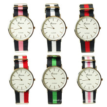 China-Lieferantengroßverkauf 6colors Nylongewebe-Mannarmbanduhr Wathes für Männer