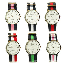 china supplier wholesale 6colors Nylon fabric men wristwatch Wathes for men
