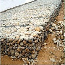 Galvanizado y recubierto de PVC Hexagonal Gabion cesta