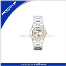 Reloj impermeable del reloj de cuarzo de cerámica del nuevo estilo de la moda 2016