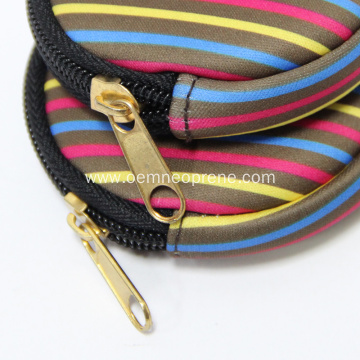 Neoprene round shape coin purse with zipper