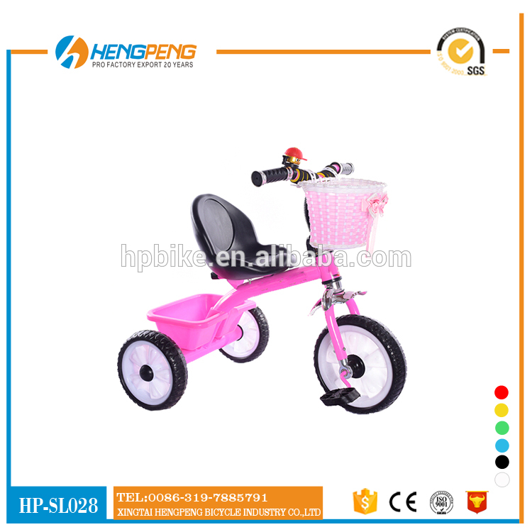 Cheap Colorful Cheap Plastic Baby Kids Tricycle/Children's Baby Trike Tricycle with Back Seat