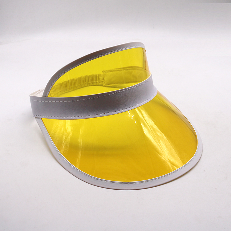 yellow transparent pvc visor cap