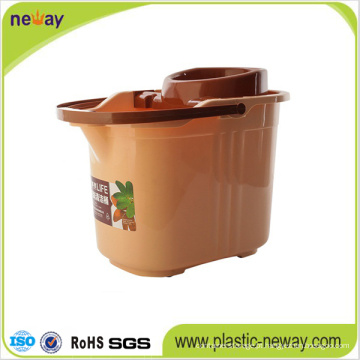 Novo design Squeeze Plastic Mop Bucket com espremedor