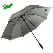 Logo slogan branded prints china wholesale golf umbrellas, long stick skirt golf hotel umbrella end cap