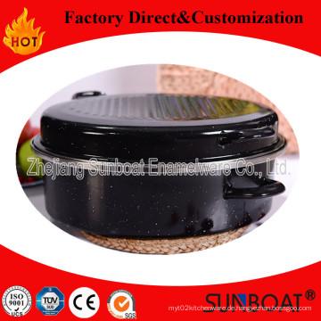 Sunboat Schwere Emaille Round Roaster BBQ Geschirr / Küchengerät