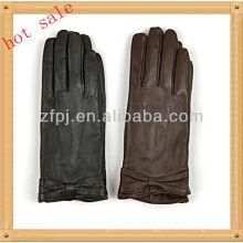 women Bowknot wrist winter leather glove