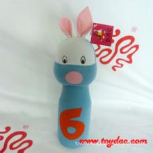 Plush Blue Rabbit Plush Bowling Toy