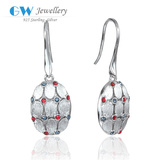 Fashion Matt Gold Design Earring Jewelry With Rhinestone 925 Silver ER1060