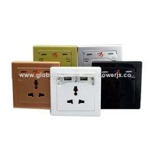 90-264V Factory New Design Duplex USB Wall Outlet Socket