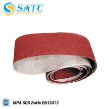 Correia de lixamento vermelha de alta qualidade do preço de fábrica com ISO9001