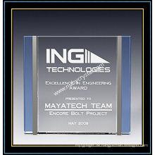 "Crystal Award Plaques / Trilogie-Plakette 6 ""H (NU-CW724)"