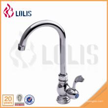 Chine fournisseur laiton simple levier cuisine froid robinet d'eau commerciale