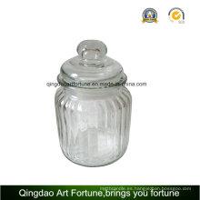 Glass Candle Jar titular de la vela llena